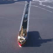 ship in the Arctic ice